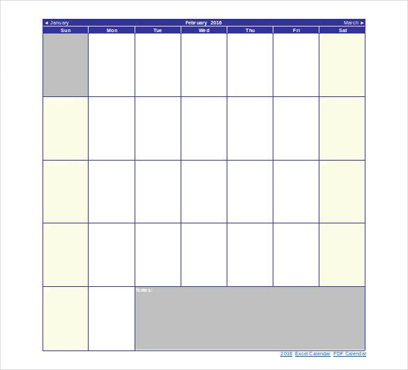 holiday calendar template free doc format