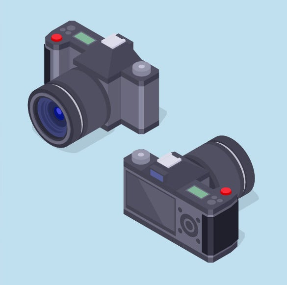 isometric photography icons