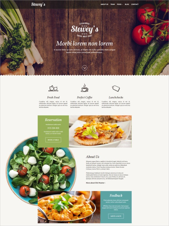 steweys best for bar restaurant wordpress theme