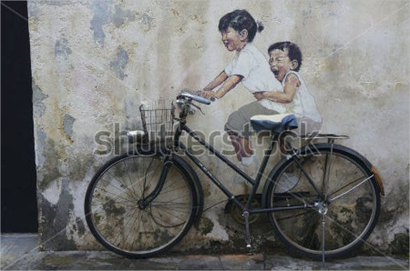 3d children street art painting template