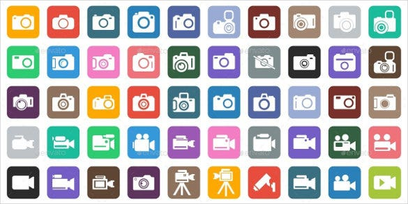 set of photography icon eps format