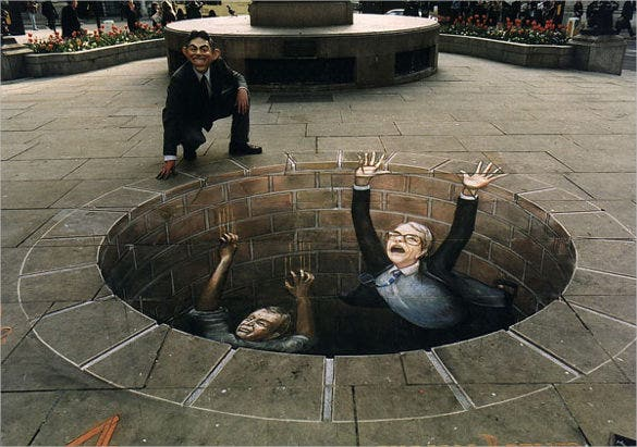 awesome 3d street art painting template