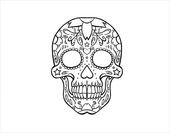 Skull Drawing Template – 14+ Free PDF Documents Download ...