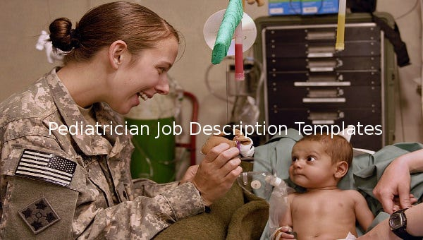 pediatricianjobdescriptiontemplate