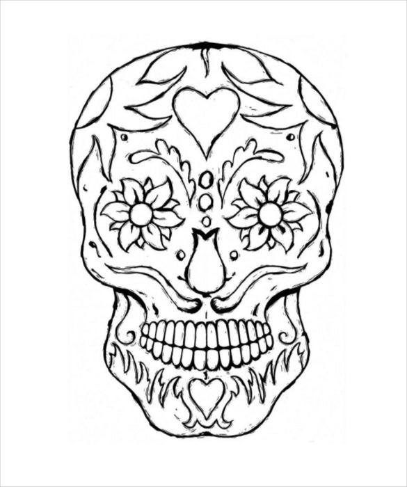 sugar skull template download