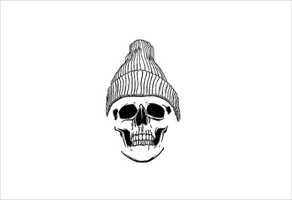 skull drawing with skull cap download1