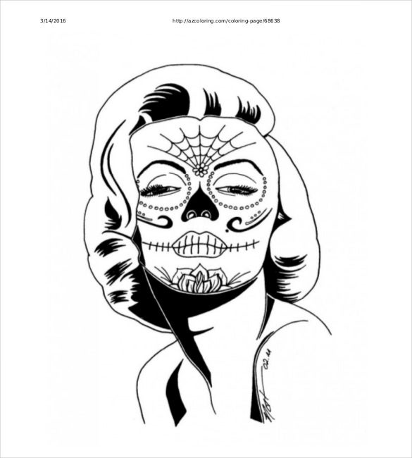 free download skull coloring pages http asyrum spreadshirt com sugar skull