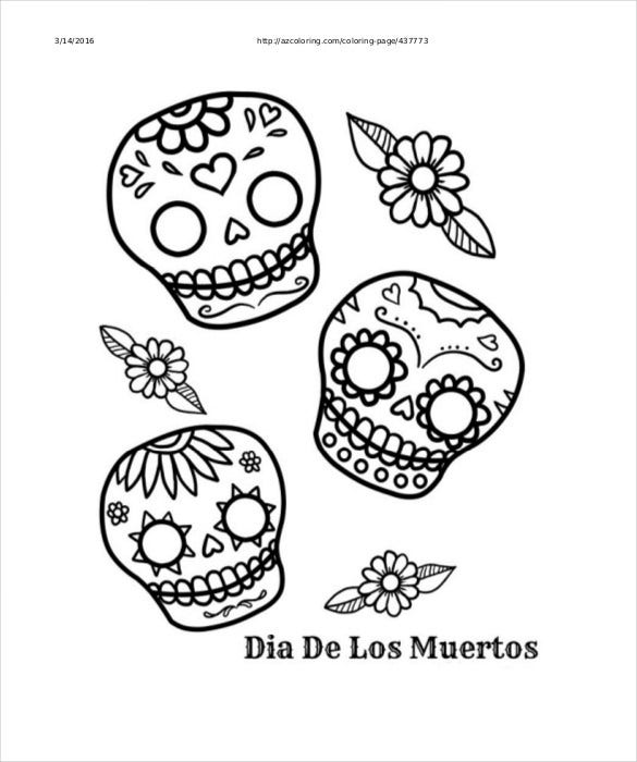 Sugar Skull Drawing Template from images.template.net