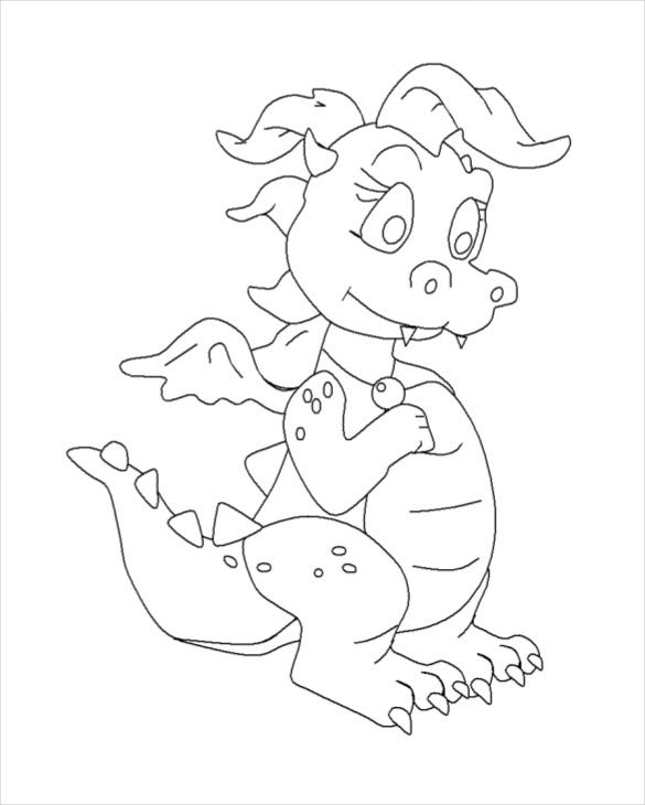 dragon drawing template 13 free pdf documents download free - Kids Free Drawing