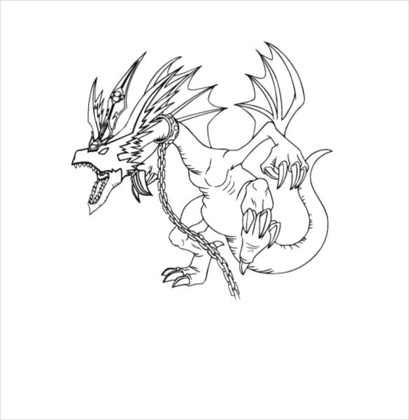 angry dragon drawing template download
