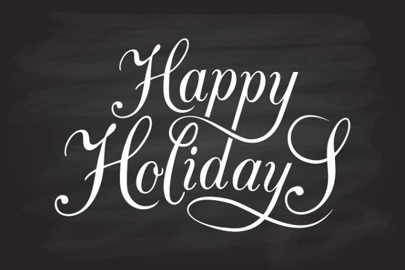 happy holiday lettering template