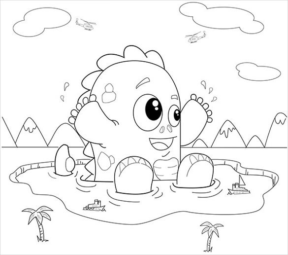 simple designed coloring page