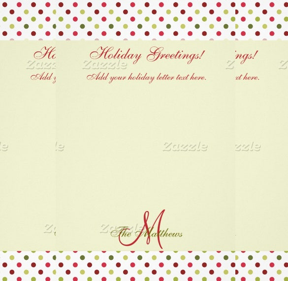 beautiful green holiday letter template