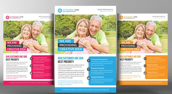 happy retirement flyer template