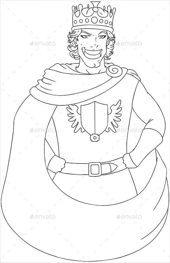 young king coloring page