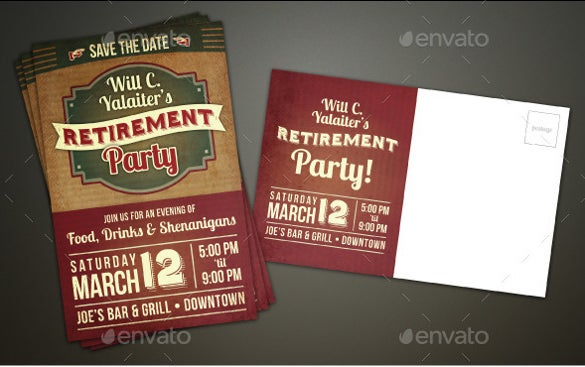 simple retirement invitation flyer