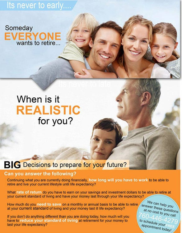 best viewed design for retirement flyer template