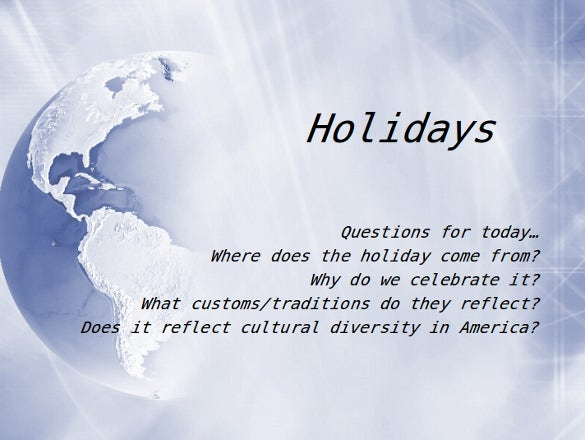 holiday powerpoint template � 14 free ppt psd format