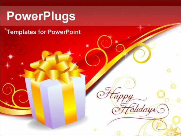holiday gift powerpoint templae