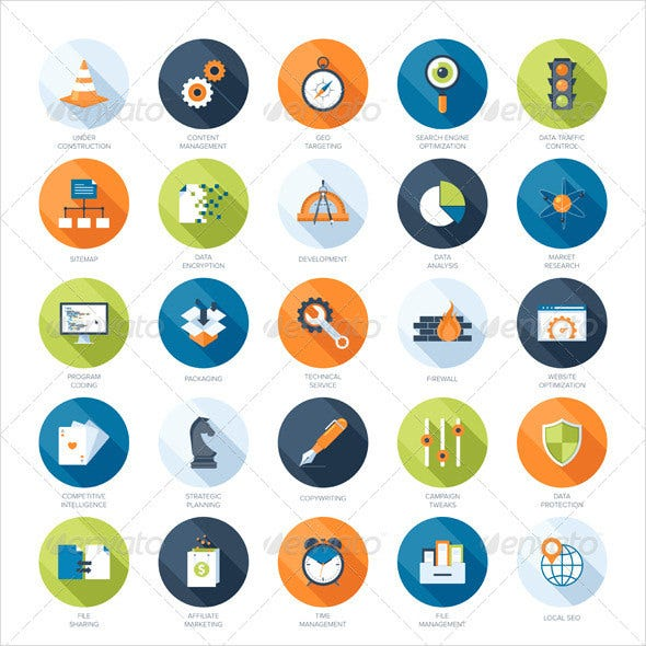vector seo icons template download