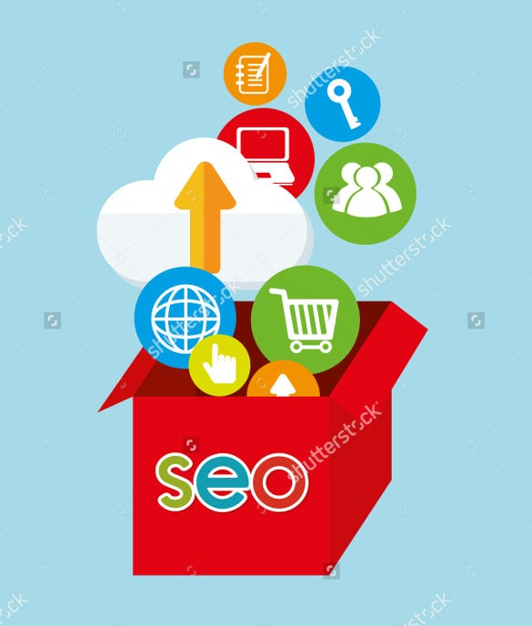 seo icons design overblue background