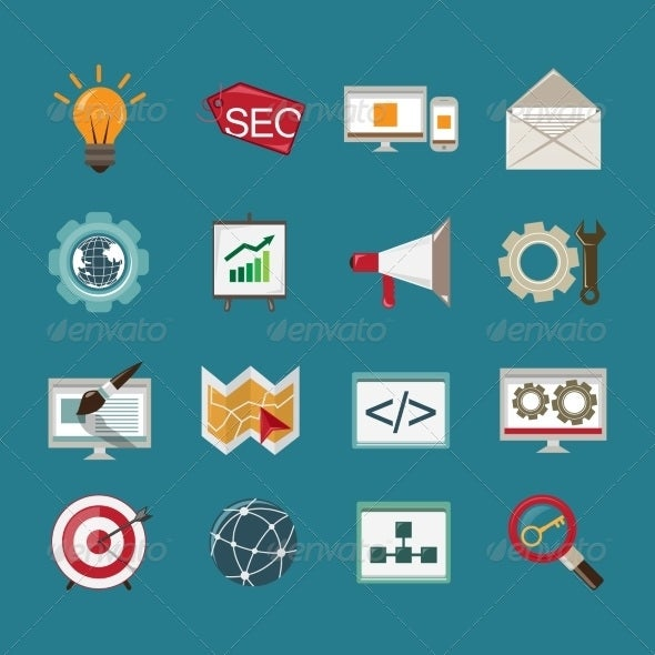 editable seo icons template download