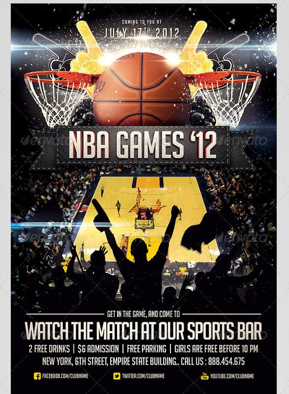 25 Basketball Flyers Free PSD AI Vector EPS Format Download – Competition Flyer Template