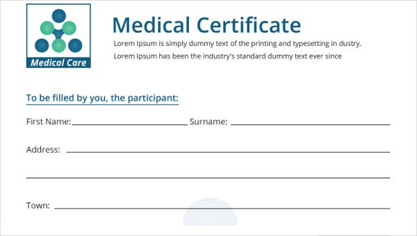 generalmedicalcertificationtemplate