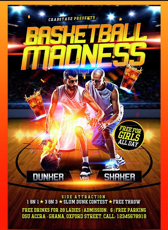 25+ Basketball Flyers - Free Psd, Ai, Vector Eps Format Download