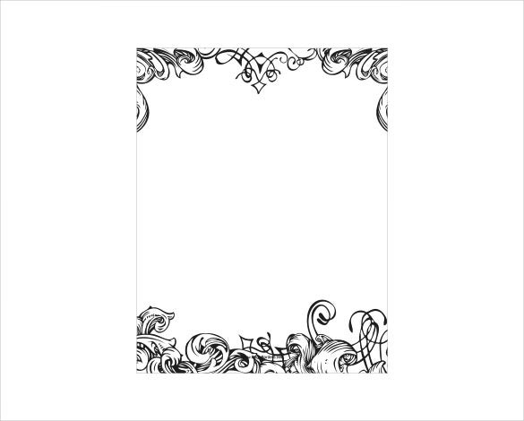 Holiday Page Border Template. Download