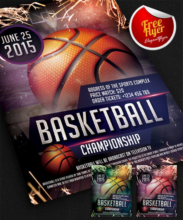 31 basketball flyers free psd ai vector eps format for Basketball tournament program template