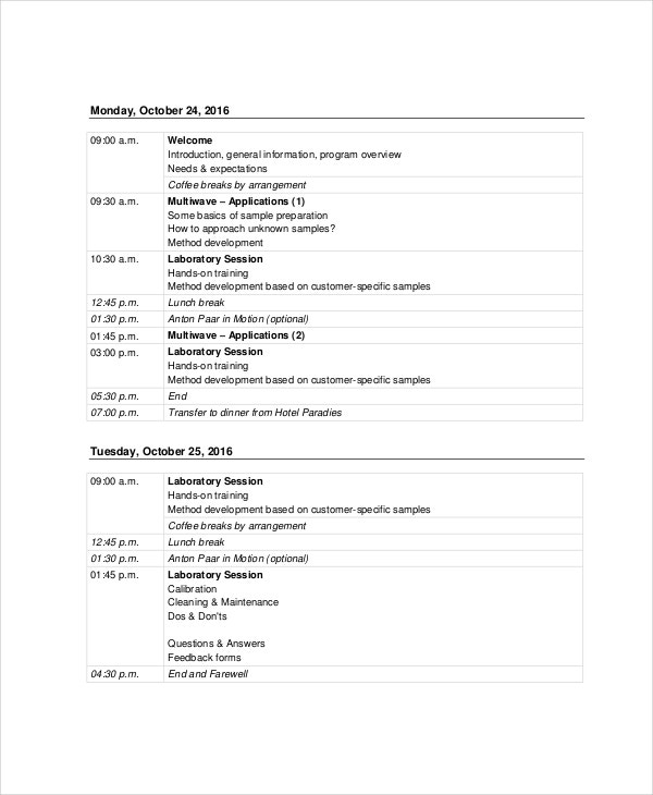 Sales Agenda Template   Free Word Pdf Documents Download