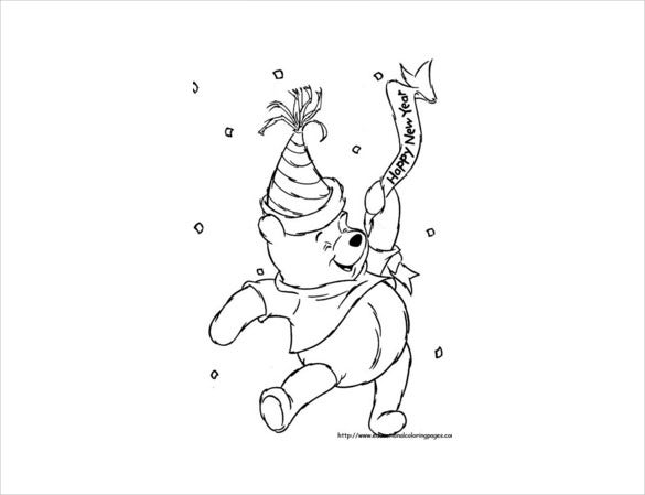 winnie disney coloring page