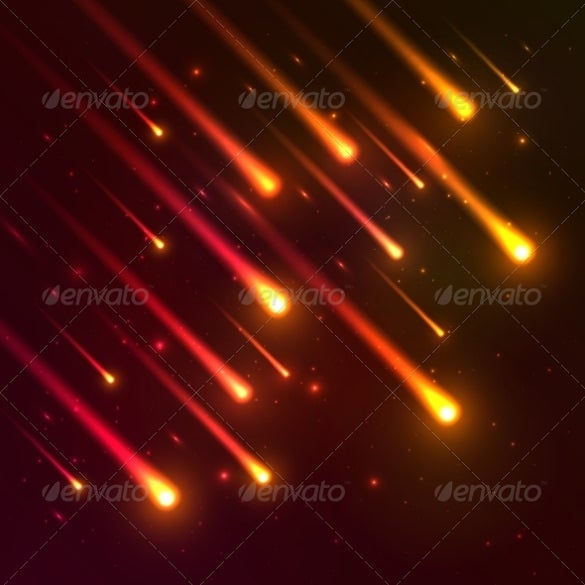 red meteorsfall background template