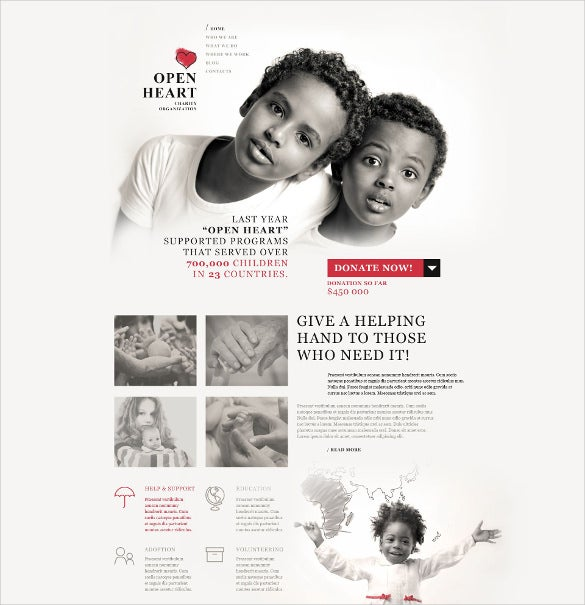 world of charity non profit wordpress website theme
