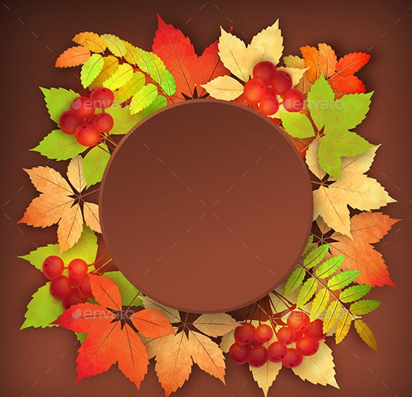 vector fall leaves fall background template
