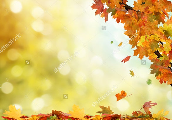 easy to edit fall background template