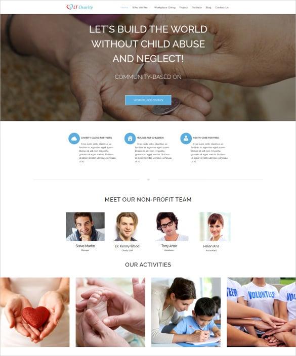 premium charity non profit wordpress website theme
