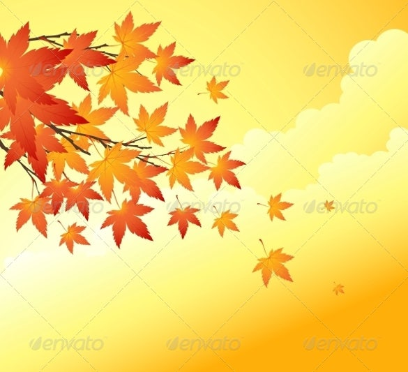 easy editable fall background template