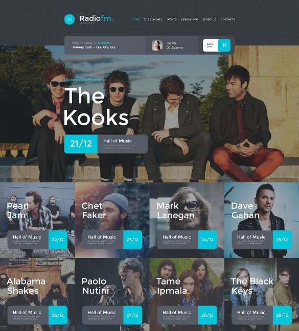 radiofm cool website template