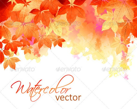 watercolor fall background template