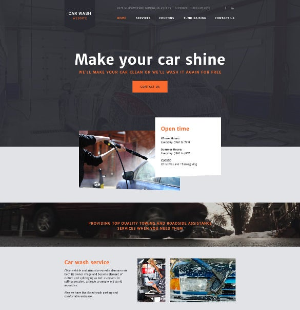 carwash website template