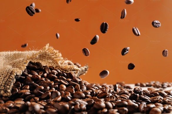 fall background template coffee beans template