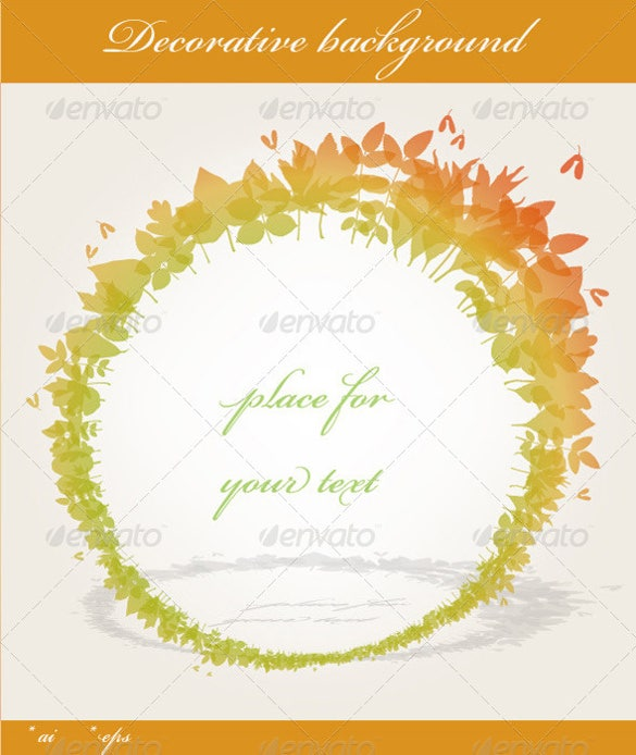 decorative fall background template