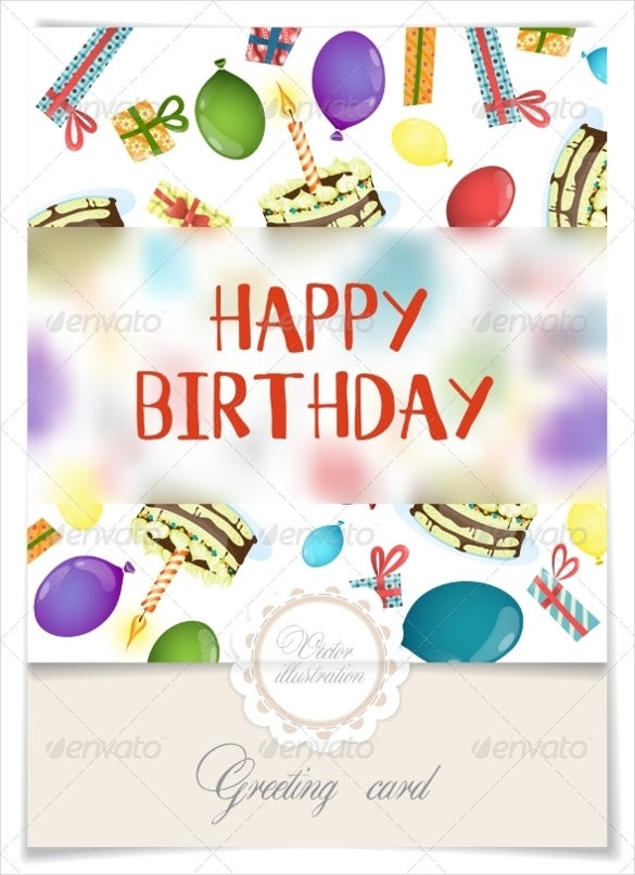 birthday greeting card design banner template