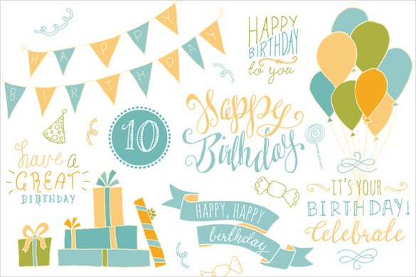 birthday photoshop overlays banner template