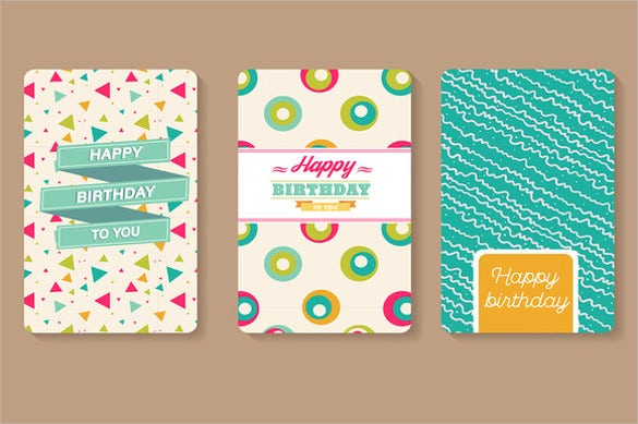 Happy Birthday Cards Banner Template