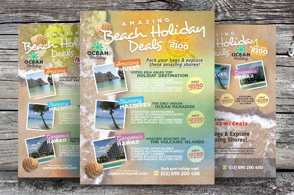 perfect holiday travel flyer template