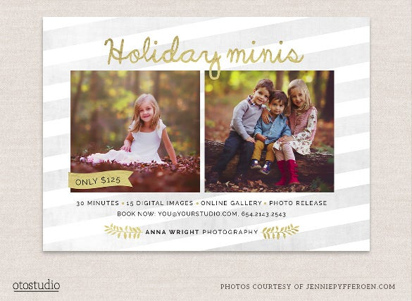 mini session holiday flyer template