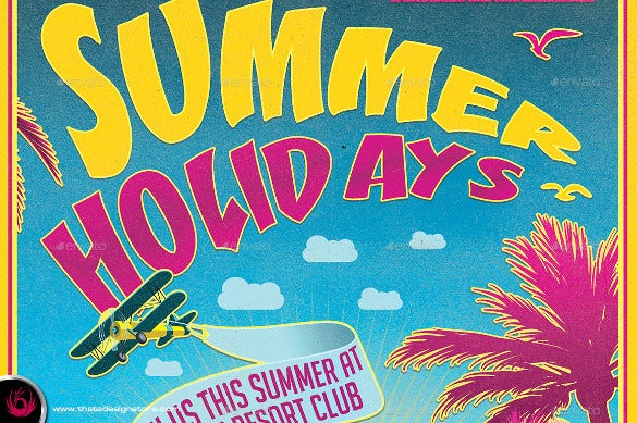 best summer holidays flyer template